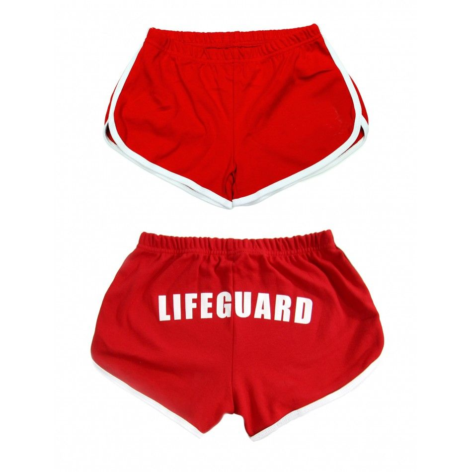 Red Womens Lifeguard Shorts | Halloween Costume, party & indoor ...