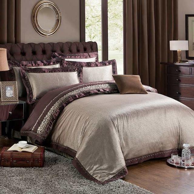 Chinese wedding style Jacquard bedding 100cotton Bedding Sets Silk