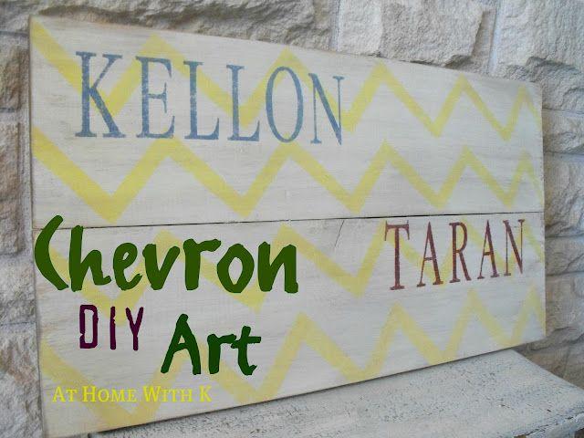 Chevron DIY ART