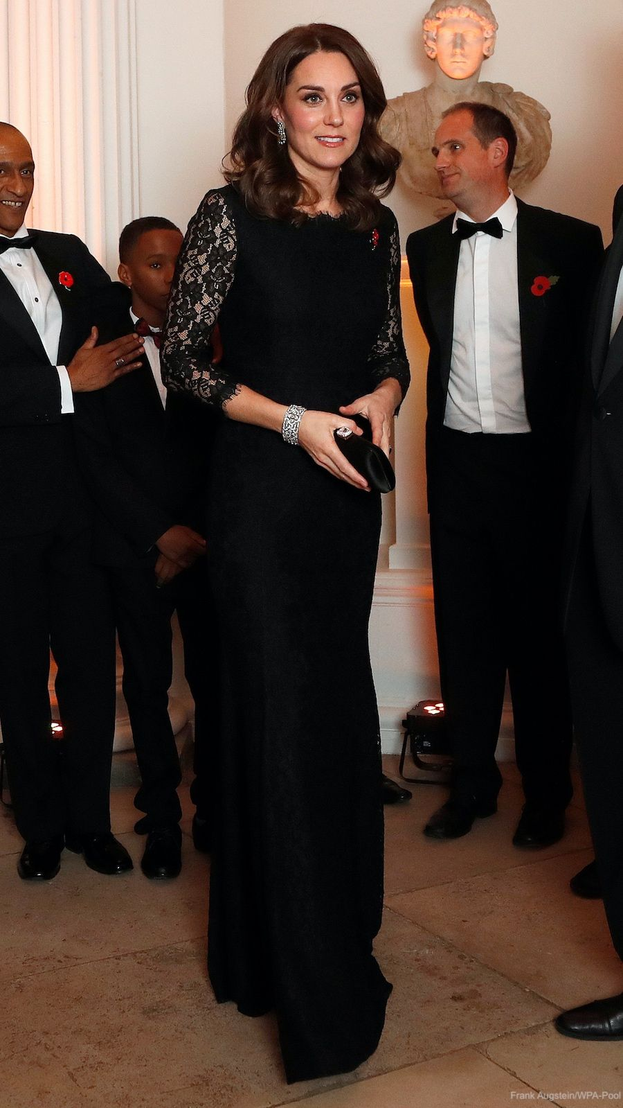 Kate repeats black DVF dress for Anna Freud gala evening · Kate Middleton Style Blog