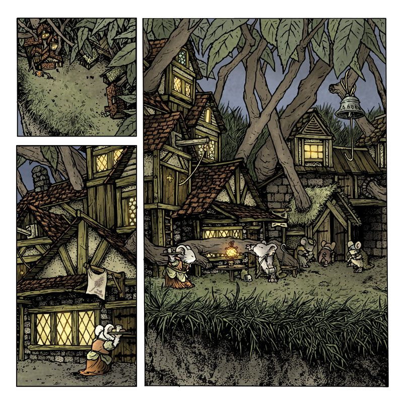 Upper Port Sumac from Mouse Guard: The Black Axe David Petersen\'s ...