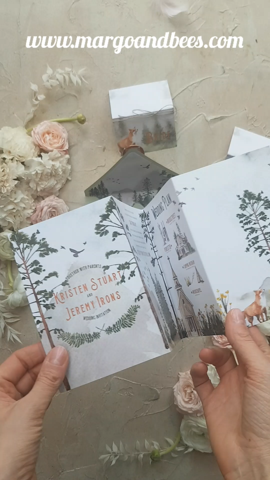 Forest wedding invitation idea