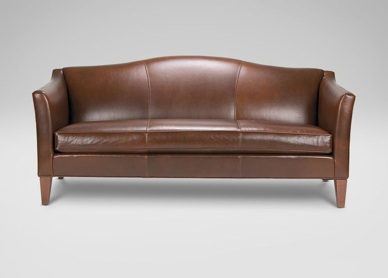Awesome Hartwell Bench Cushion Leather Sofa Ethan Allen Sofa Sleek Arms Classic  Camelback Fresh Contemporary Details Tight Back Loose Welted Bench Seat  Cushion ...