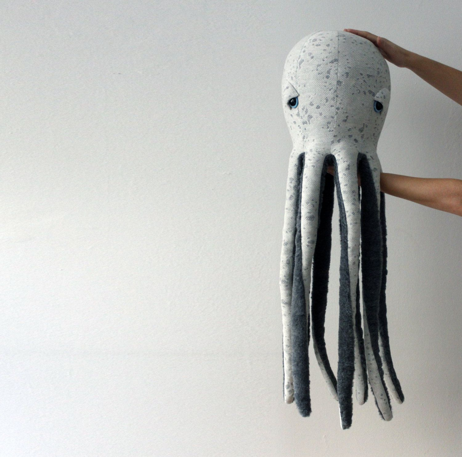 Oversized Handmade Plush Octopus Stuffed Animal Eco