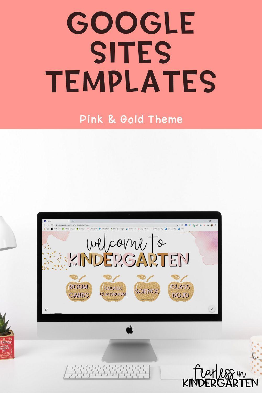 Google Sites Template Pink Gold Free Teacher Resources Teacher Resources Google Site Templates