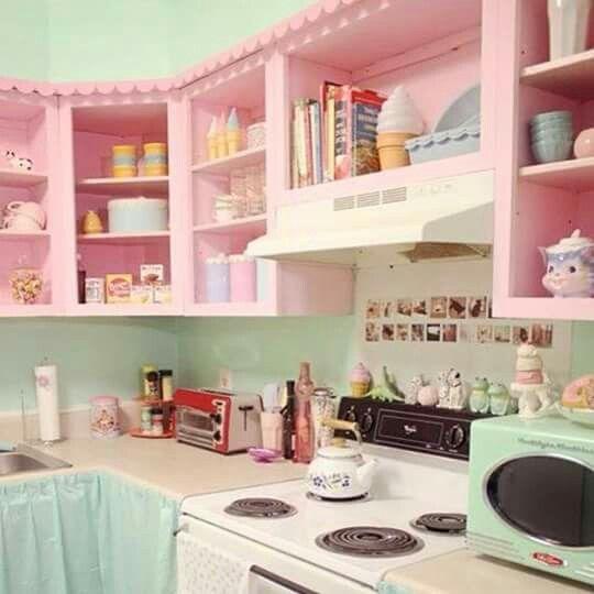Que perfeição!!!!! #cozinha #girlie