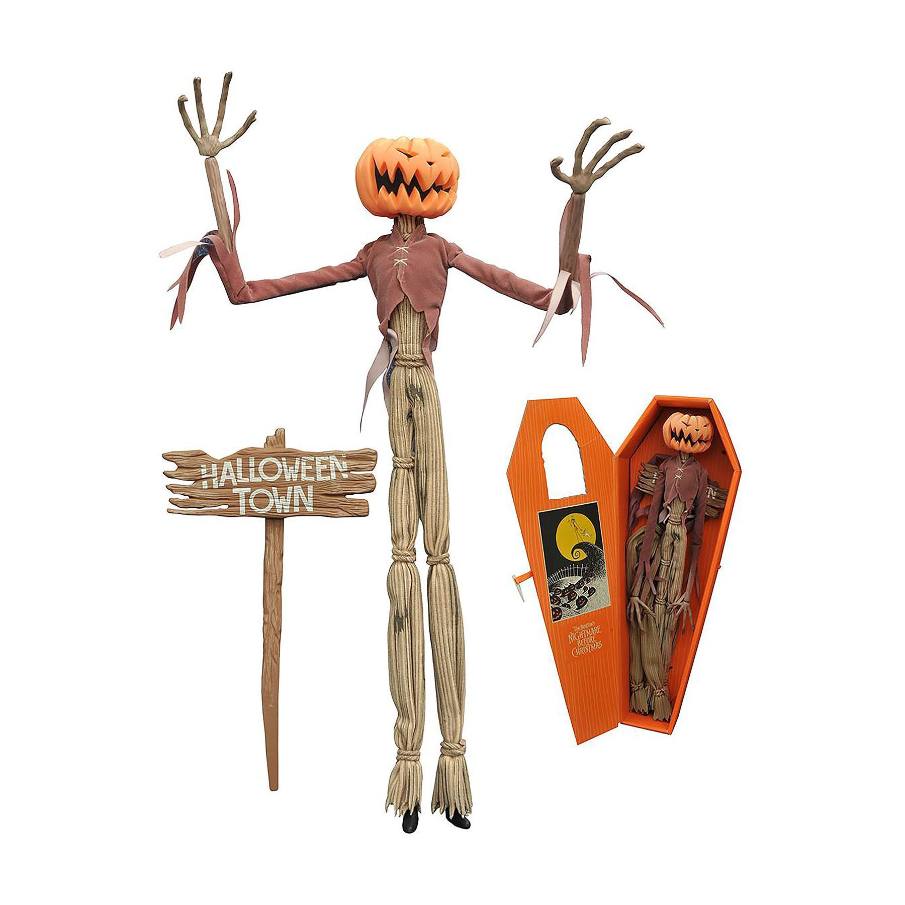 Diamond Select Toys Night before Christmas Pumpkin King Jack Coffin ...