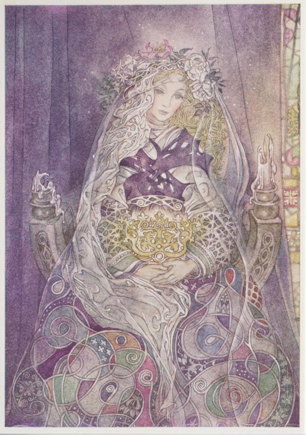 Postkarte Sulamith Wülfing-Der Schleier