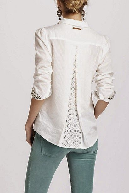 I choose to sew: DIY: Anthropologie blouse copy and get a few extra inches of width