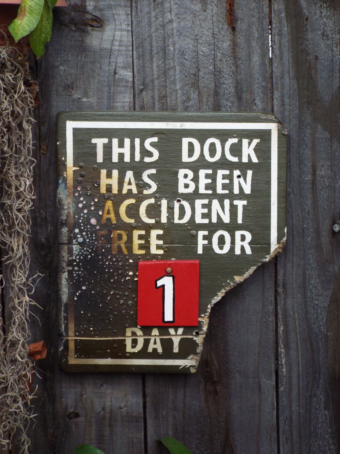 Disneyland Jungle Cruise Inspired Wood Sign - Accident Free Sign ...