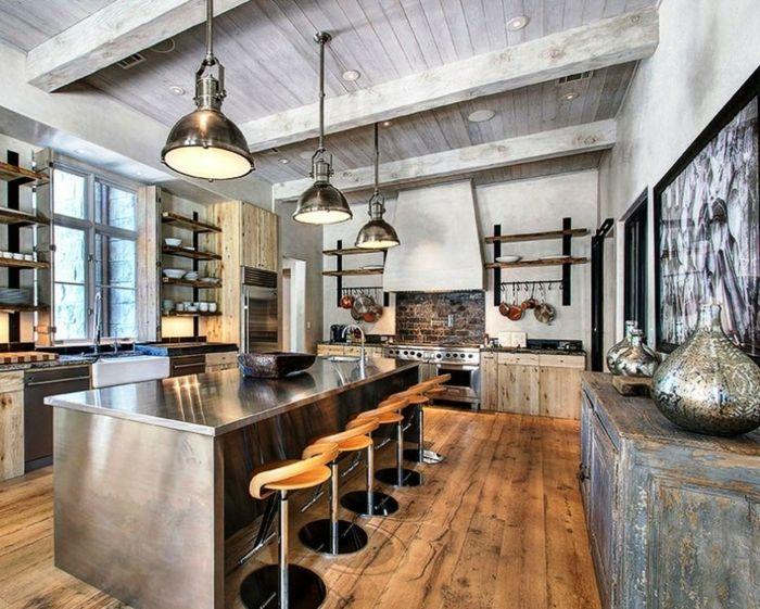 ▷ 1001 + ideas de diseño de cocinas de estilo industrial | Sillas ...