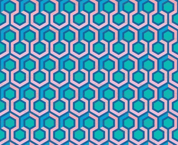 Geometric Hexagon Fabric by mariafaithgarcia by fashionformulauk