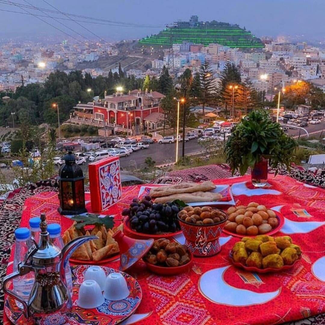 اللهم لك صمت وعلى رزقك افطرت أبها Abha Family Activities Table Decorations Decor