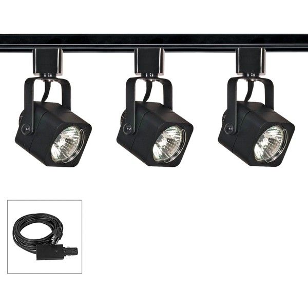Nuvo lighting 3 light black square shade plug in track kit 6350 nuvo lighting 3 light black square shade plug in track kit 6350 rub liked on polyvore featuring home lighting ceiling lights black ceiling track aloadofball Images