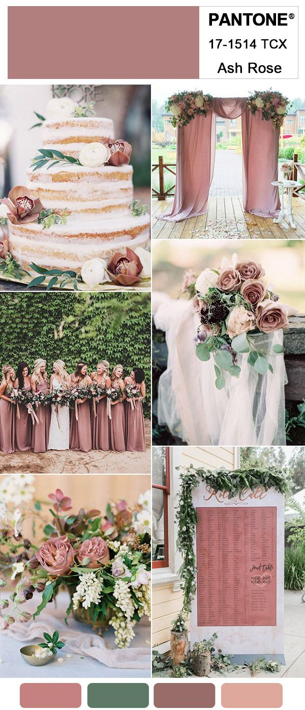 Gorgeous Ash Rose Wedding Colors for 2018 Trends Inspired By Pantone ...