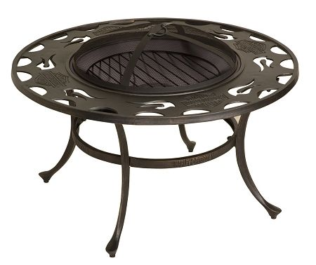 Harley Davidson Bar Shield Flames Fire Pit This Goes With Our Patio Furniture