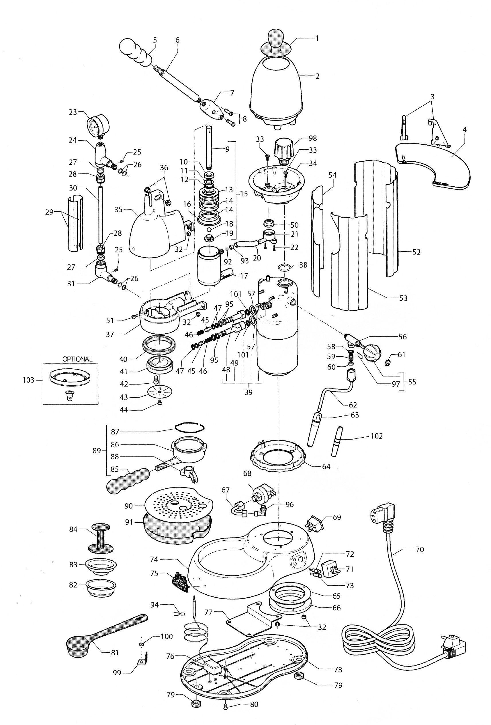 Gaggia Achille Espresso Machine Schematic Diagram