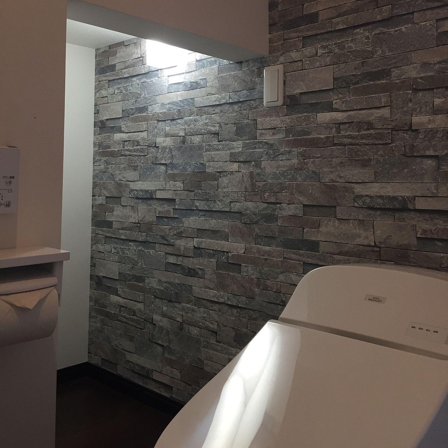 Bathroom 照明 アクセントクロス Toto サンゲツ トイレ 壁紙のインテリア実例 17 10 09 23 40 30 サンゲツ 壁紙 サンゲツ トイレ 壁紙