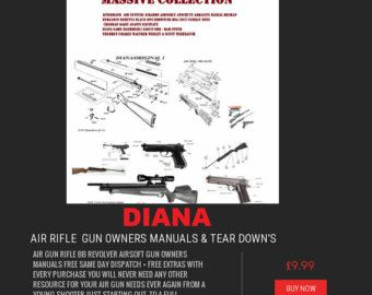 AIR RIFLE GUN owner's manual's rifle crossman bsa smk diana colt weihrauch weebly scot air arms pistol air soft + free targets