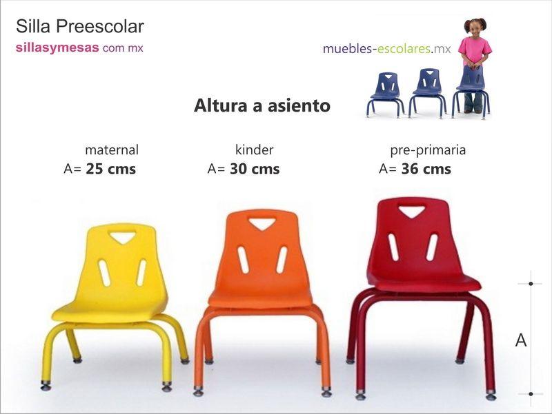 Altura asiento ni os buscar con google arq for Mobiliario escolar medidas