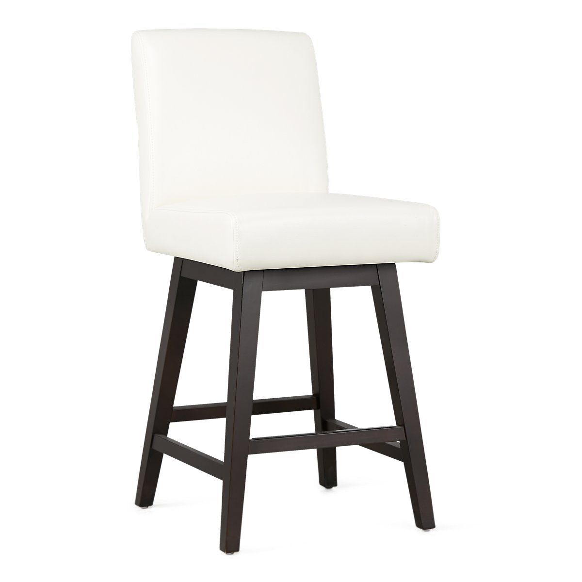 Superb Lago White Bonded Leather 24 Swivel Barstool Dining Room Onthecornerstone Fun Painted Chair Ideas Images Onthecornerstoneorg