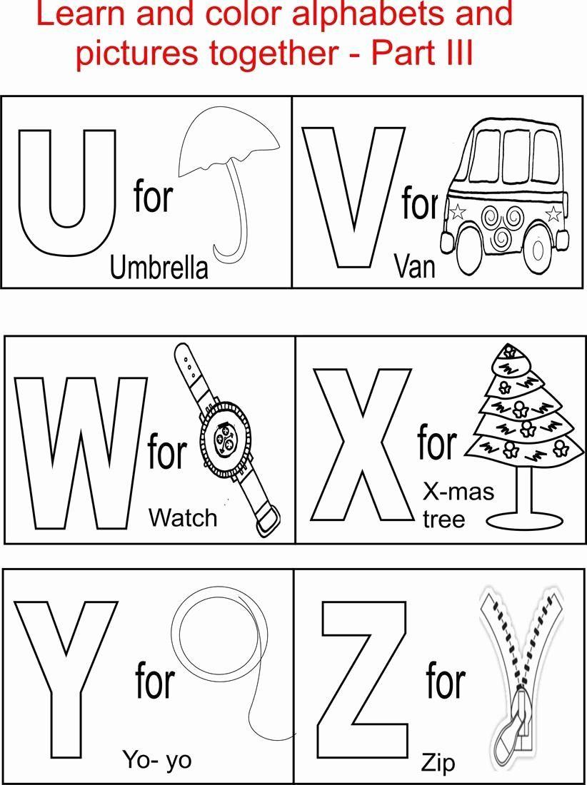 Alphabet Coloring Worksheets For Kindergarten Best Of Alphabet Part Iii Coloring Printable Page In 2020 Abc Coloring Pages Alphabet Coloring Pages Learning Printables
