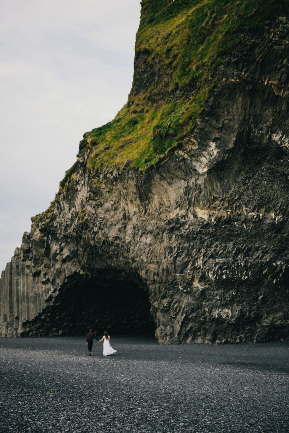 Iceland Elopement - Wear Your Love - Charis Rowland Photography - black sand beach - Vik - bride and groom - Iceland wedding