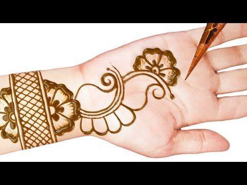 Mehndi Designs For Girls Simple Front Hand