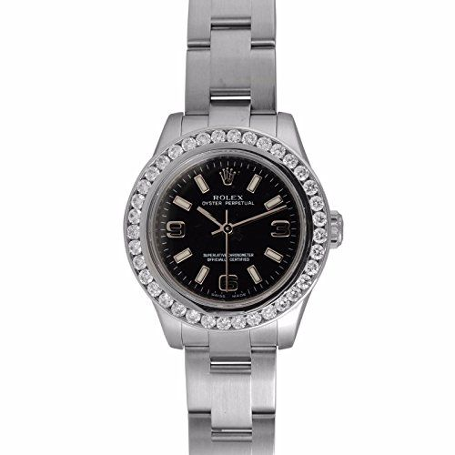 Women's Certified Pre-Owned Watches - Rolex Oyster Perpetual No Date swissautomatic womens Watch 176200BKPSAO Certified Preowned *** Check out this great product.