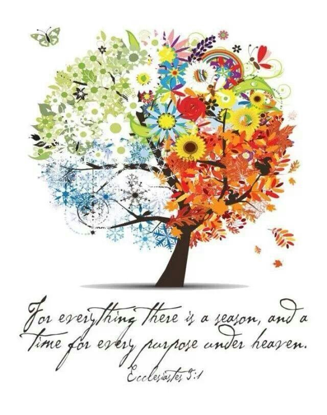 """March 29th- ECCLESIASTES 3:1 """"To everything there is a season, A time for every purpose under heaven."""""""