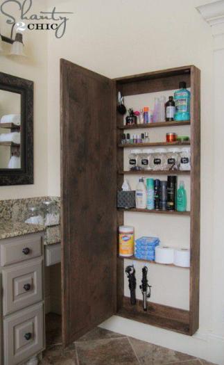 Smart Tiny House Storage Ideas For Every Corner Of Your Space Bathroom Organization Diy Diy Bathroom Storage Bathroom Mirrors Diy