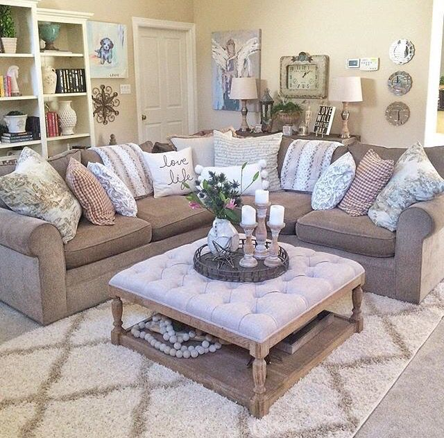 Color: Tan, white Style: sectional Room: living | Tan ...