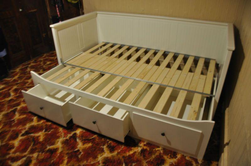 ikea day bed frame  IKEA HEMNES DaybedSofaTrundle