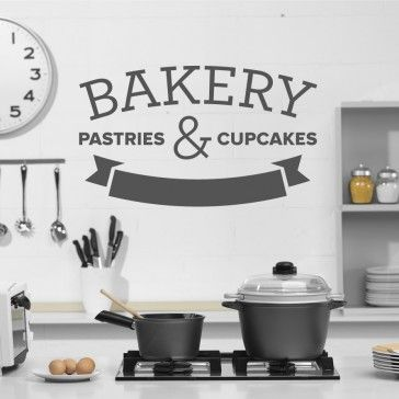 Bakery Fresh and Delicious Shop Kitchen Sign Wall Art Decal Sticker Picture