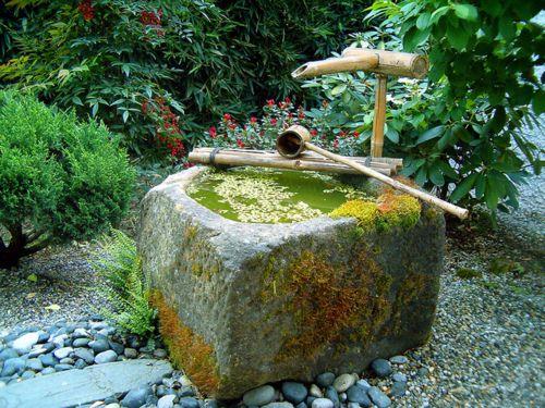 Japanese garden Wasserspeier Pinterest Gärten, Asia garten - pflanzen fur japanischen garten