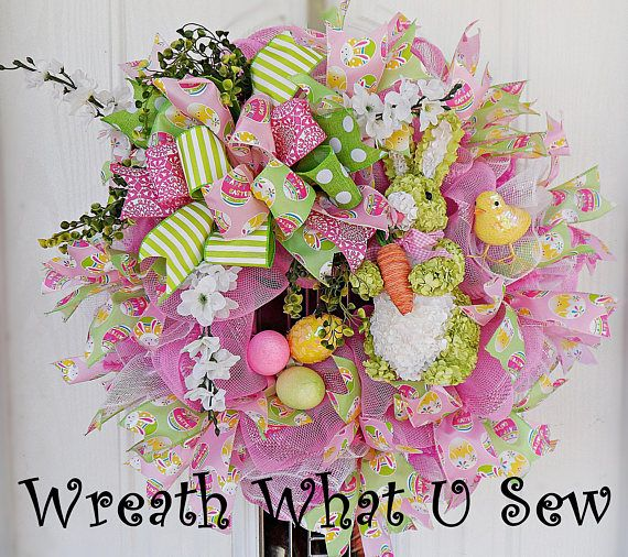 Easter Wreath Spring Wreath Wreath Easter Front Door | easter ...