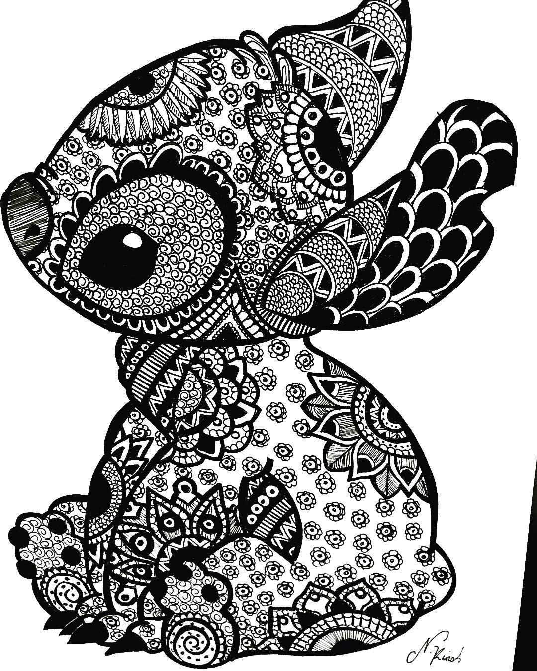 Pin by Saryna Shaw on Disney things Stitch coloring