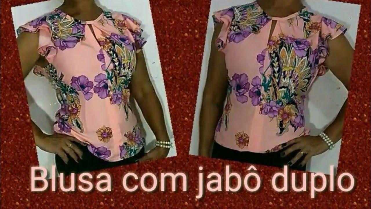 3ea9936f3a BLUSA JABÔ DUPLO NA CAVA + DECOTE COM PREGAS (Modelagem- Corte- Costura)