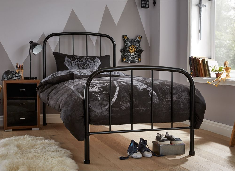 Westbrook Single Black Metal Bed Frame Black Metal Bed Black Metal Bed Frame Bed Frame