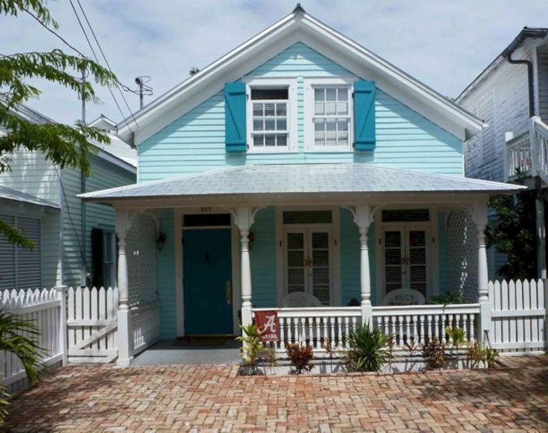 Tropical Exterior Paint Colors Ideas Beach Cottage Style House