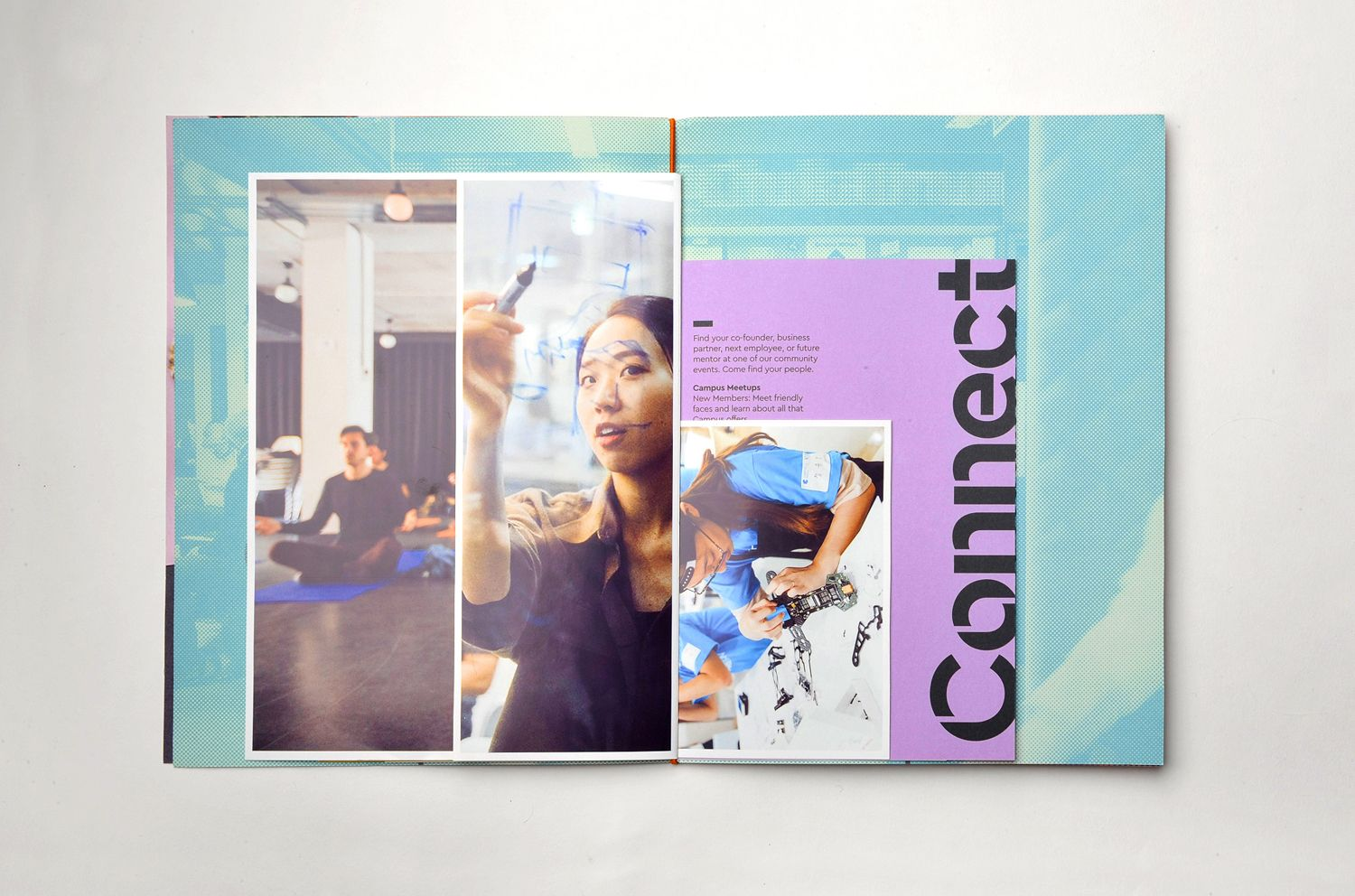 Brand identity and brochure design by MultiAdaptor for Google s co working and event space concept Campus