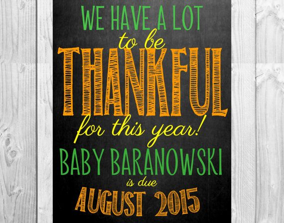 Fall Chalkboard Pregnancy Announcement Photo Prop Size 11x14