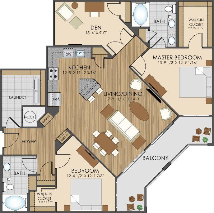 Honey Creek Apartments: Floor Plans Of Hidden Creek Apartments In Gaithersburg, MD