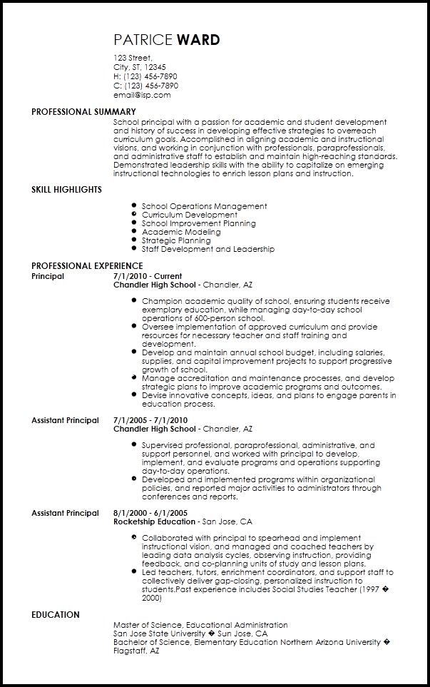 elementary principal resume  elementary principal quotes