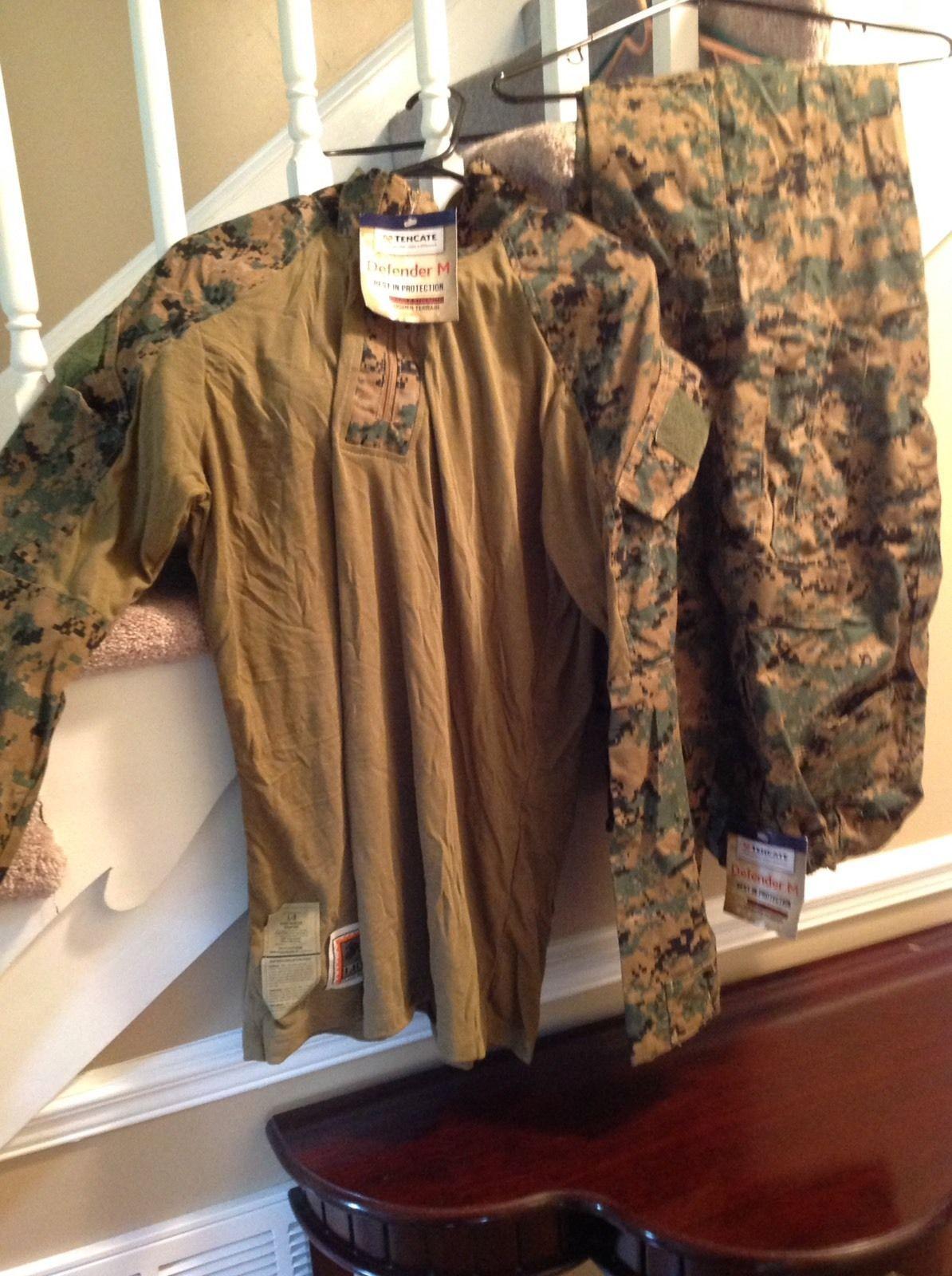 United States Marine Corps (USMC). Woodland Camouflage. Marine Corps Combat  Uniform. Size: LARGE Regular (LR). Flame Resistant Organizational Gear  (FROG).