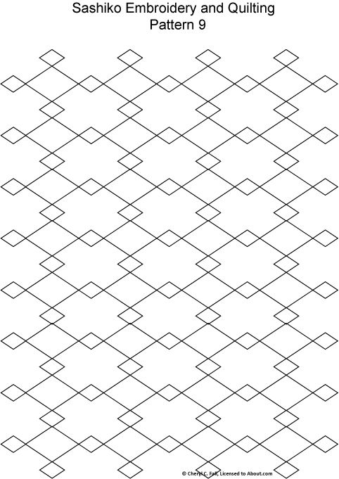 Sashiko Pattern 12 | Japanese Embroidery | Pinterest | Bordado ...