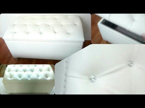Super Diy Crystal Tufted Ottoman With Storage Kmart Hack Youtube Inzonedesignstudio Interior Chair Design Inzonedesignstudiocom