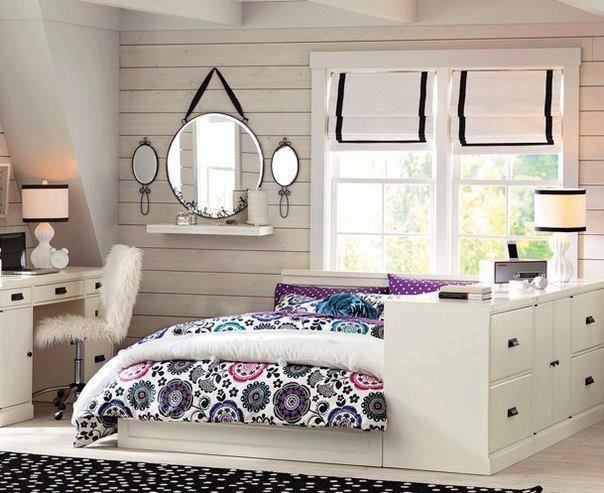 cama adosada a mueble bajo... silla tapizada en piel... juego de ...