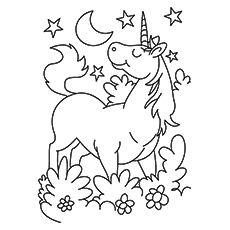 coloring pages unicorns rainbows flowers - photo#30