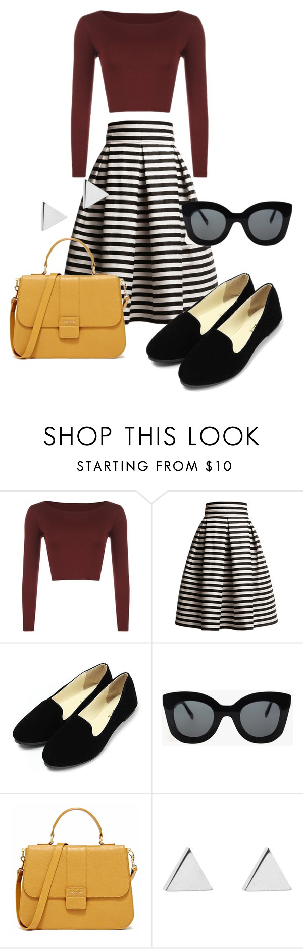 60s fashion by soltys-dagmara on Polyvore featuring moda, WearAll, Rumour London, Jennifer Meyer Jewelry and CÉLINE